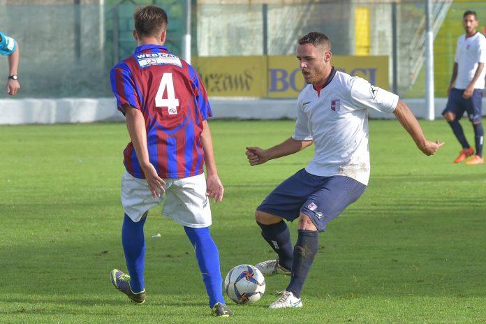 L'attaccante Diego Allegretti in azione