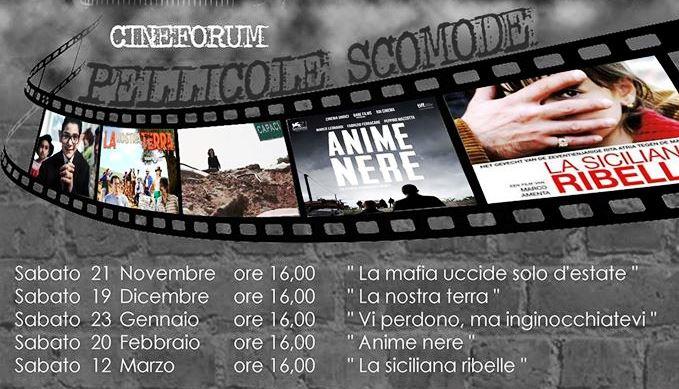 """""""Pellicole scomode"""", al via il Cineforum di Libera"""