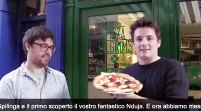 I fratelli Elliot con la loro pizza alla 'nduja