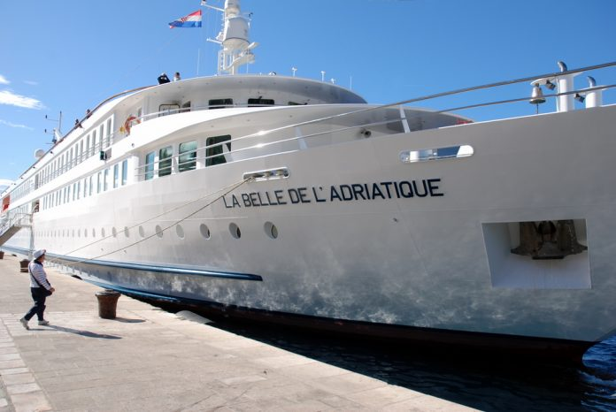 La Belle de l'Adriatique ormeggiata in porto