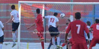 Il gol di Saraniti al 20' del secondo tempo
