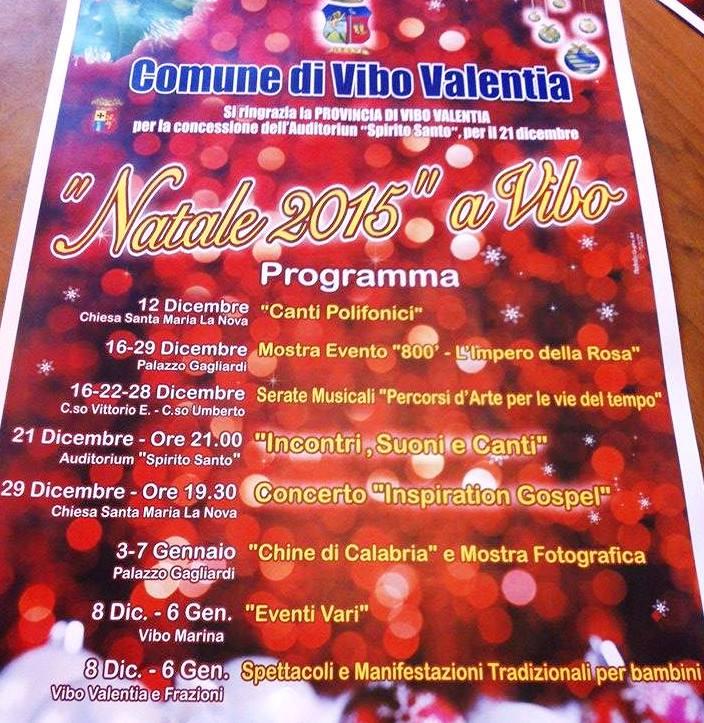 Vibo, Natale ricco di eventi e iniziative culturali