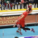 L'opposto Peter Michalovic, miglior realizzatore del match