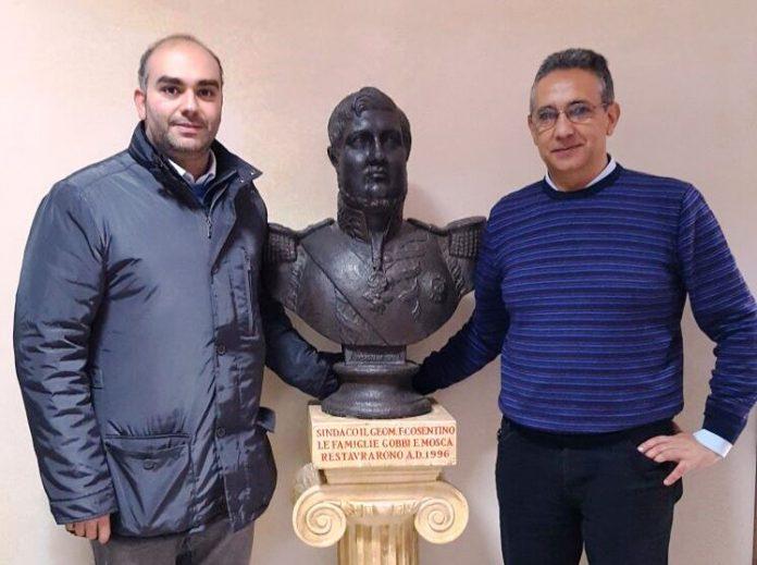 I sindaci Iorfida (a sinistra) e Ramogida