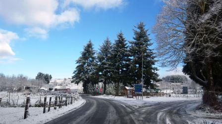 La prima neve caduta nelle Serre vibonesi