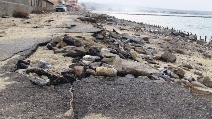 La situazione sulla spiaggia del Pennello