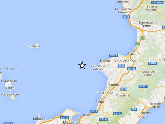 Scossa di terremoto di magnitudo 2.2 al largo del Vibonese, nessun danno