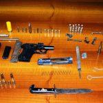 Le armi ritrovate a Serra San Bruno