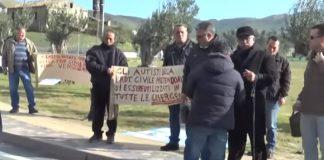 La protesta dei lavoratori Prociv