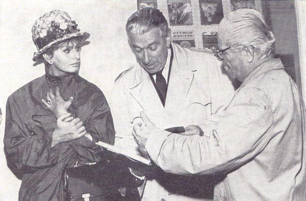 Giuseppe Ratti con Sophia Loren