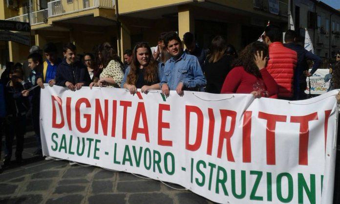 La recente marcia dei diritti negati a Vibo