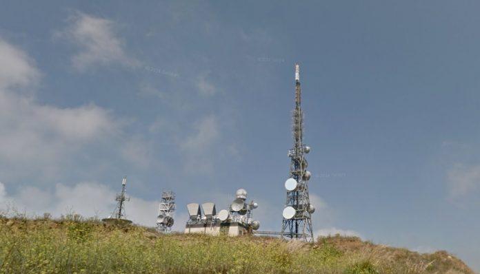 Le antenne posizionate in località Castello