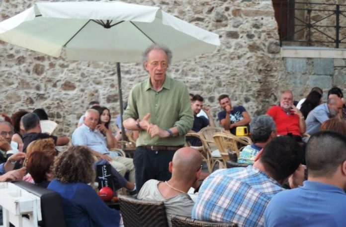 Gherardo Colombo in piazza a Nicotera
