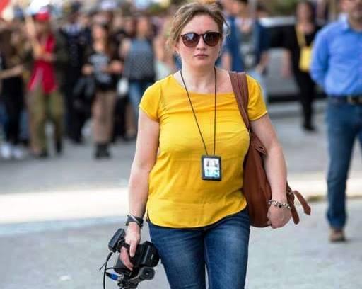 La giornalista Cristina Iannuzzi