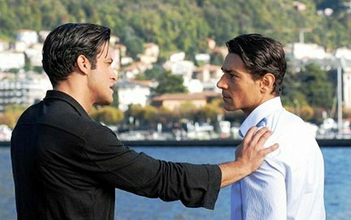 Giuseppe Zeno (a destra) con Gabriel Garko