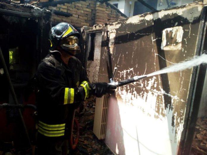 L'intervento dei Vigili del fuoco a Pizzoni