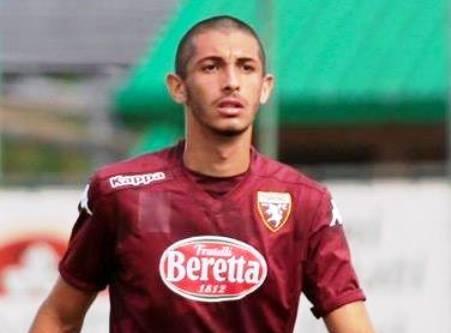 Stefano Tindo con la maglia del Torino