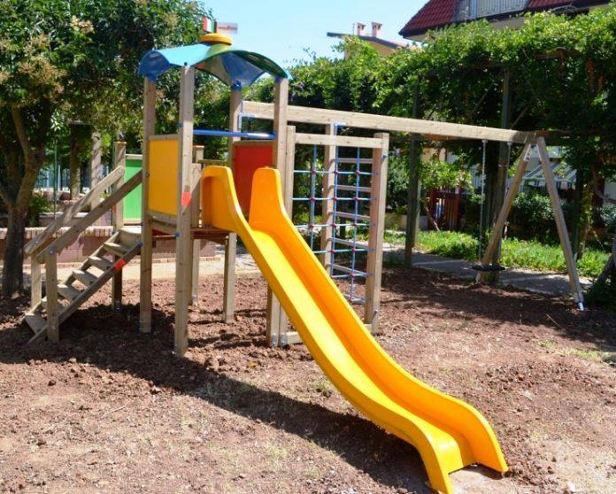 Uno dei giochi installati a Zambrone