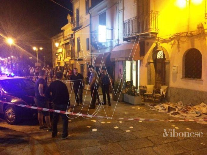 Il luogo del ferimento a Nicotera (foto Michele Porcelli)
