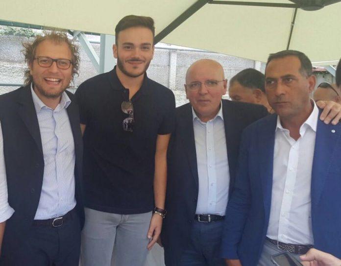 Il coordinatore Dinatolo con Lotti, Oliverio e Censore