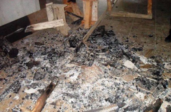 """L'incendio alla """"casermetta"""" di Ariola"""