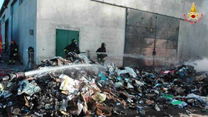 L'intervento dei Vigili del fuoco a Ricadi