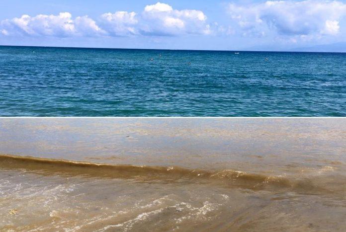 Lo stato del mare prima e dopo le pioggie