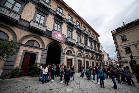 Palazzo Gagliardi in una precedente edizione del Festival