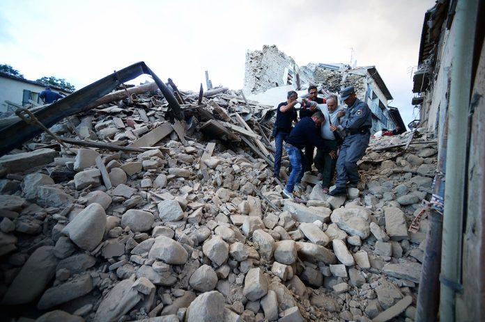 Amatrice devastata dal sisma