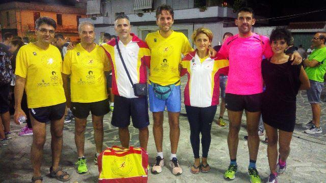 Gli atleti della società di San Costantino