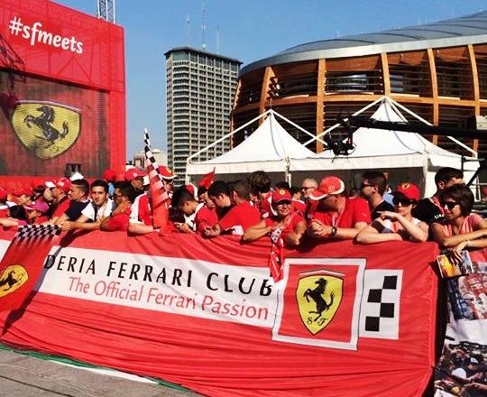 I tifosi della Ferrari a Monza