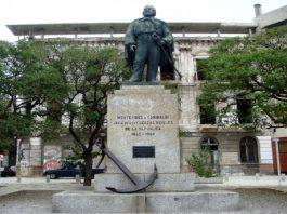 Una statua di Garibaldi nella capitale uruguayana Montevideo