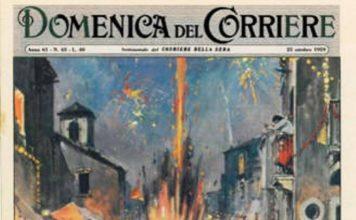 La copertina della Domenica del Corriere sulla tragedia
