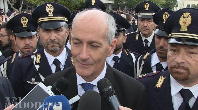 VIDEO | Gabrielli a Vibo: «Ancora incerto il futuro della scuola di Polizia»