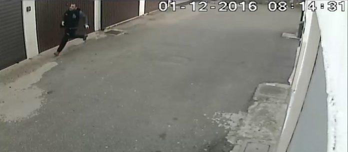 La fuga di Antonio Stella catturata dalla videosorveglianza
