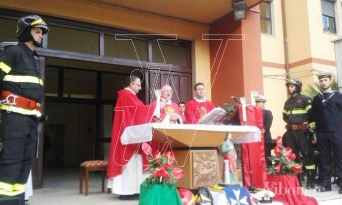 La messa in onore di Santa Barbara