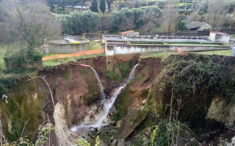 Sant'Onofrio: vasta frana lambisce il depuratore, impianto a rischio