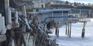 I danni della mareggiata a Tropea
