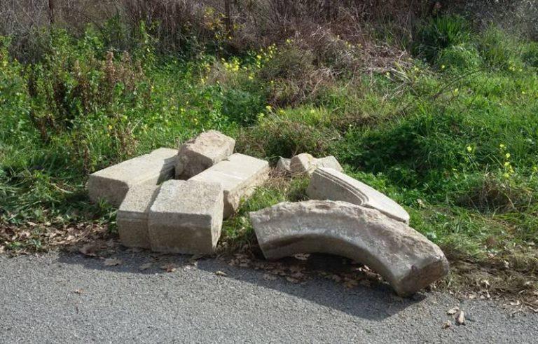 Ricadi, ritrovato arco in marmo di fine '800 rubato da un'abitazione