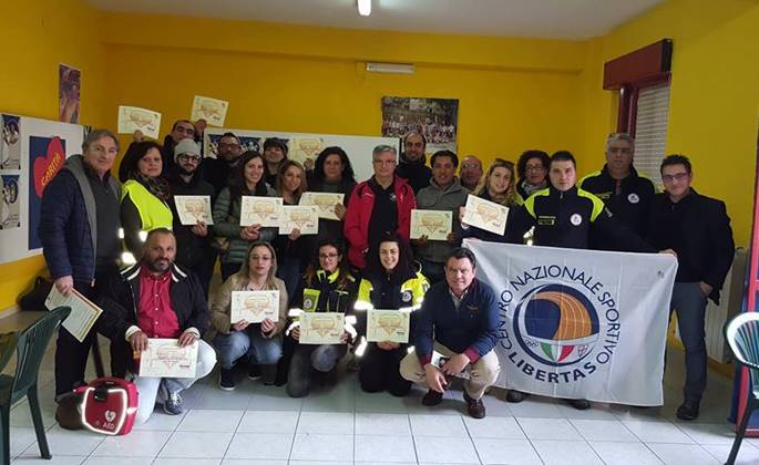 I partecipanti al corso di Soriano