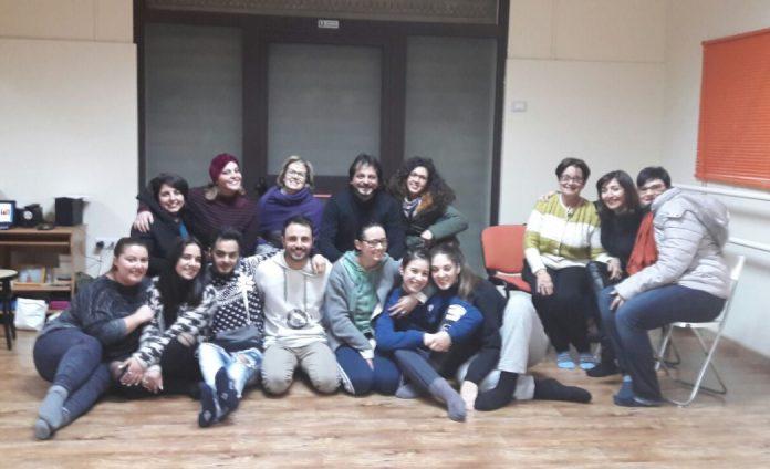 I partecipanti al laboratorio teatrale