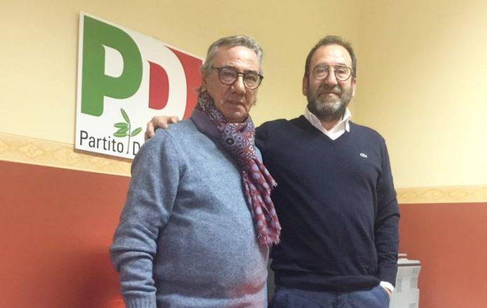 Raffaello Molè e Enzo Insardà nella sede del Pd