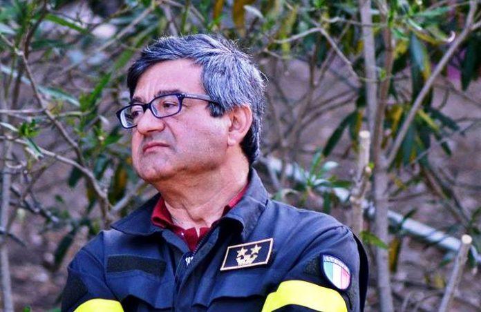 Il comandante provinciale dei Vigili del fuoco Tafaro