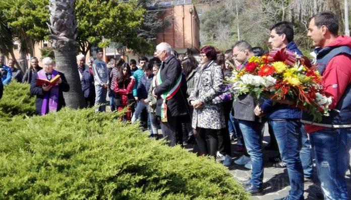 Un momento della cerimonia a Stefanaconi