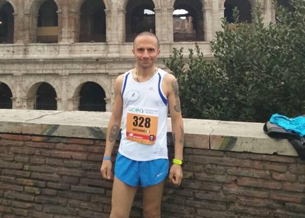 Un vibonese alla maratona di Roma, bella prova per Antonino La Torre