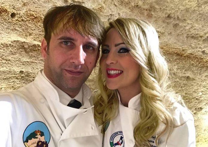 Lo chef Giuseppe Romano con la moglie Eleonora Marcello