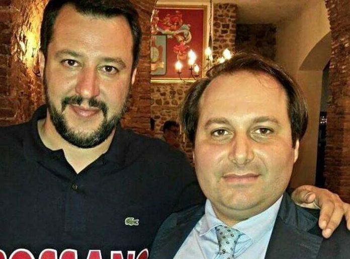 Antonio Piserà con Matteo Salvini
