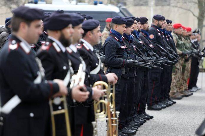 L'inaugurazione del Battaglione Calabria