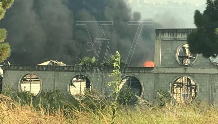 Incendio a Porto Salvo