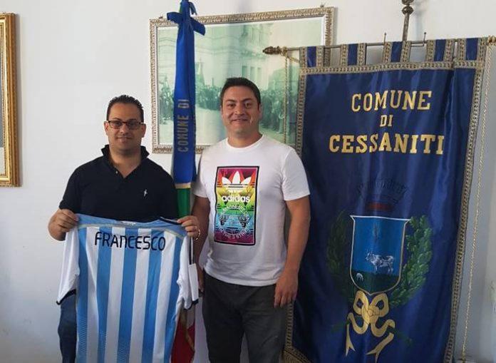 Il sindaco Francesco Mazzeo con Juan Pablo De Rito
